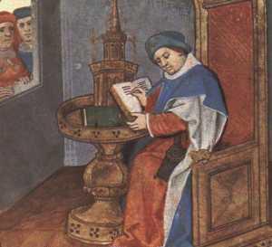 MIniatura Roman de la Rose di Guillaume de Lorris